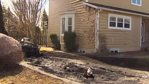 An explosion and fire seriously damaged property on this Mount Pearl cul-de-sac.