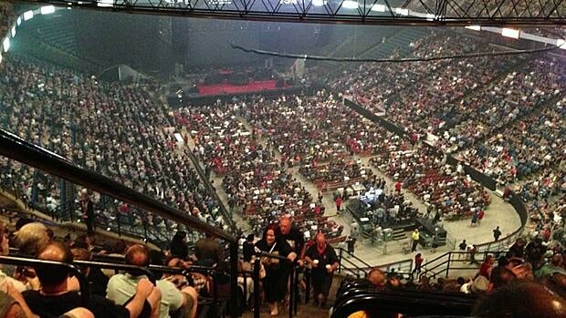 Rush fans packed Copps Coliseum on July 6. Coun. Jason Farr says a fan called his office complaining of paying $100 to park. Such reports are enough to drive people away from the downtown, he says.