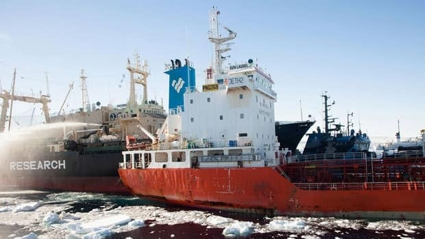 The Sea Shepherd activist group claims a Japanese whaling ship intentionally rammed two of the groups' ships Wednesday near Antarctica. However, Japan's Fisheries Agency, says the protesters were responsible.
