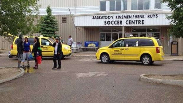 Evacuees are being housed at a Saskatoon soccer centre.