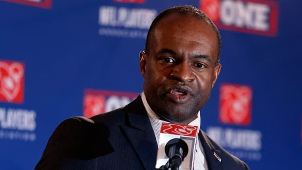 DeMaurice Smith, Executive Director of the National Football League Players' Association, during the annual state of the union press conference on January 31, 2013.