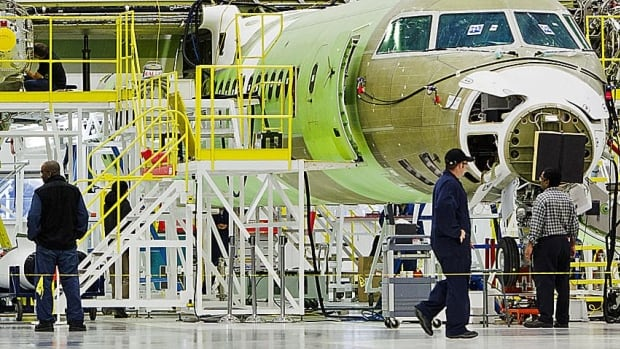 Currently Porter's entire fleet consists of Q400 turboprops, shown here being assembled, so a move to buy CSeries jets would be a major shift.