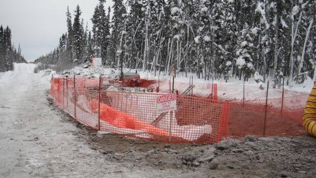 Photo of the area 60 kilometres west of Fort Simpson where a pipeline leak was found. (photo courtesy Enbridge)