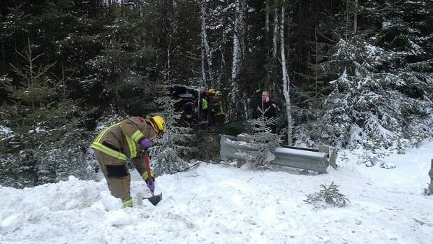 Firefighters needed the jaws of life to pry the driver from the vehicle in Wednesday's rollover accident.