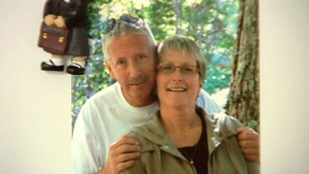 Sheree Halliday says her husband, Philip, has been trying to keep his spirits up in the three years since he was arrested.