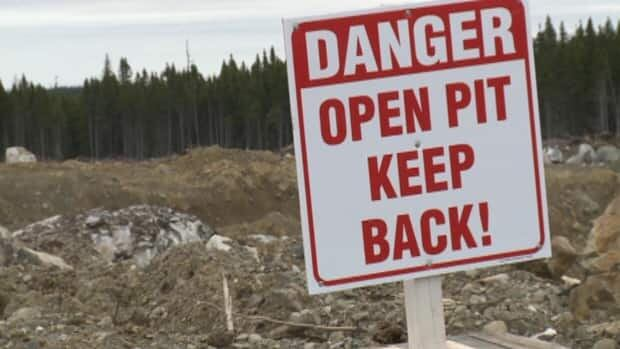 Teck Resources has been working on its new open pit mine at Duck Pond for about a month.
