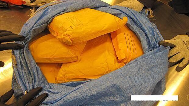 The Canada Border Services Agency has seized nine kilograms of cocaine at Hamilton and Toronto airports. (Canada Border Services Agency)