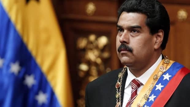 Venezuela's interim President Nicolas Maduro at his swearing-in ceremony Friday, which followed the country's late president Hugo Chavez's funeral.
