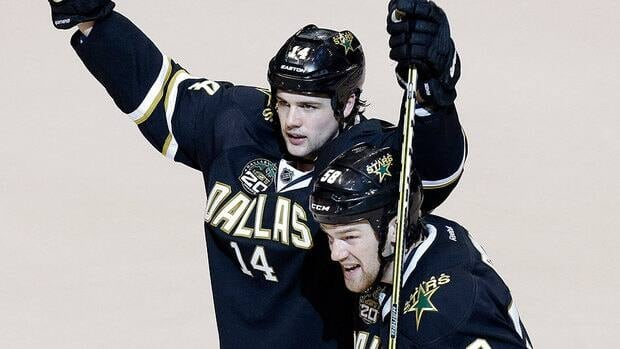 """Jamie Benn, left, says living the NHL dream with his brother Jordie by his side this season has been surreal. """"It's a dream come true for us and we're taking it all in."""""""