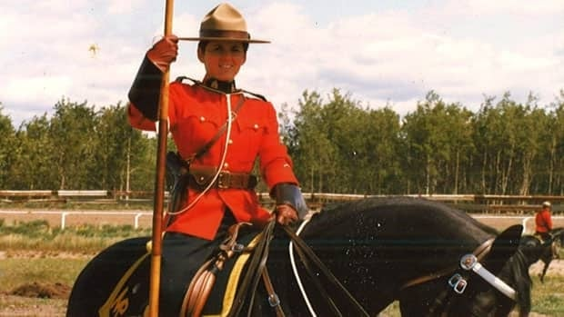 RCMP Staff Sgt. Caroline O'Farrell, pictured above as a constable working for the Musical Ride, claims she was sexually assaulted and harrassed by her former colleagues.