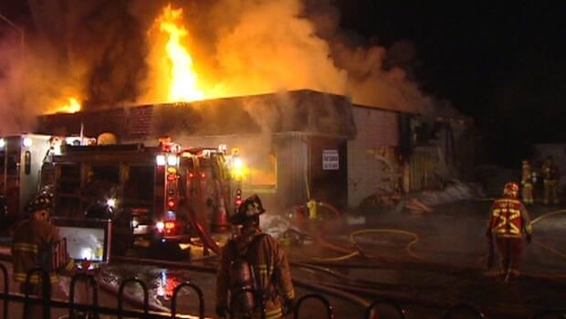 Manotick firefighters brought this blaze under control at 4 a.m. Monday morning.