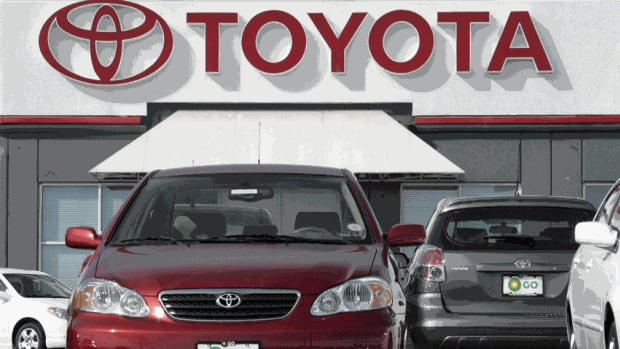 A 2007 Toyota Corolla sedan and Matrix wagon sit on the lot at a Toyota dealership. Toyota Canada has recalled 140,000 Corolla and Matrix cars from 2003 and 2004 and almost 17,000 Lexus IS models from 2006 through 2012.