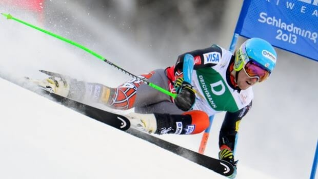 Ted Ligety of the U.S. skis the Planai in Friday's men's giant slalom in Schladming, Austria.