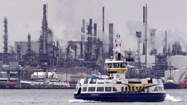The Imperial Oil refinery is seen in Dartmouth, N.S. on Thursday, May 17, 2012.