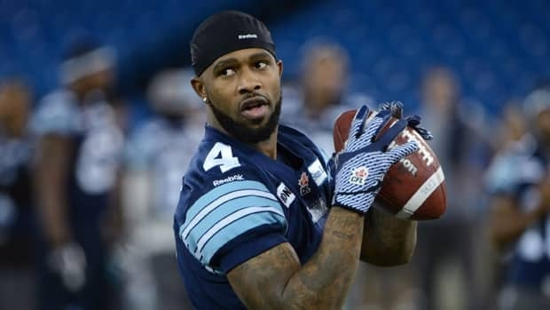 Pacino Horne, seen at a Grey Cup practice for Toronto last year, was among the players the Argos let go on Monday.