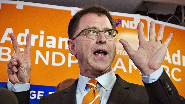 Do the math. NDP Leader Adrian Dix earlier this week counting down the days until British Columbians vote.