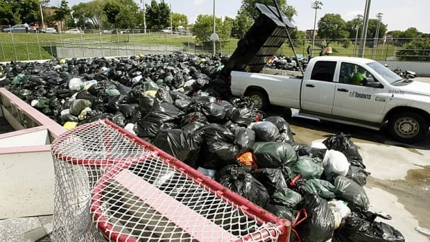 Torontonians dumped their garbage in a local hockey rink and park during a garbage strike in 2009. A report out today suggests Canadians make more garbage per person than any other country.