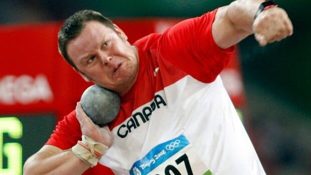 Canada's Dylan Armstrong, seen in Beijing, just missed the Olympic podium.