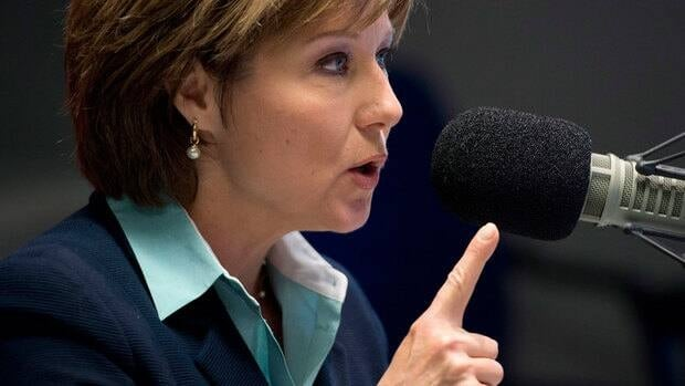 B.C. Liberal Leader Christy Clark took to the airwaves on Monday morning.