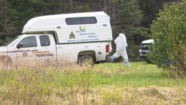 Police won't say why they're searching the property a few kilometres away from Michelle Demers-Kennedy's home.