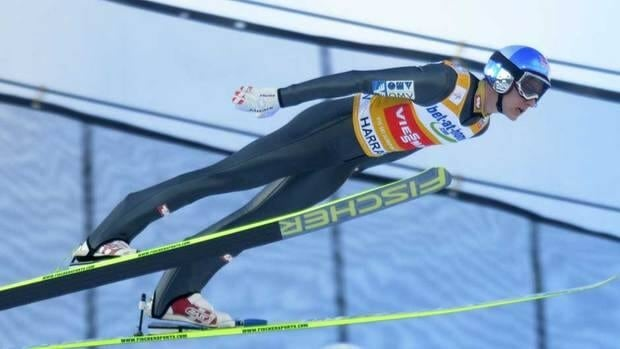 Gregor Schlierenzauer of Austria soars through the air during the first round of the FIS Ski Jumping World Cup in Harrachov, Czech Republic Sunday.