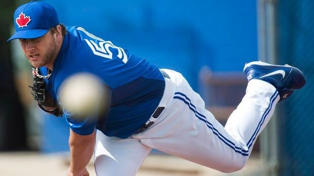 Toronto Blue Jays starting pitcher Mark Buehrle was acquired in a multi-player swap this off-season with the Miami Marlins.