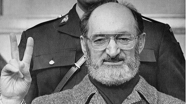 Dr. Henry Morgentaler delivers a victory sign as he leaves the Supreme Court of Canada in Ottawa on Jan. 28, 1988. The Supreme Court of Canada ruled in his favour and struck down anti-abortion laws. Morgentaler, who helped overturn Canada's abortion law 25 years ago, died Wednesday at his Toronto home.
