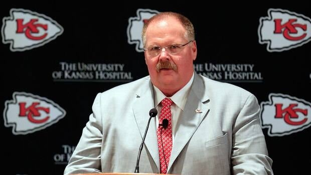 Andy Reid was introduced as Kansas City's new coach Monday after spending the last 14 seasons in Philadelphia.