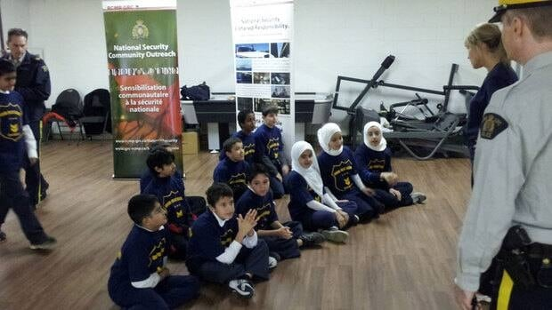 Young Muslims get ready to learn about federal policing at the Junior Academy at the Mountain Mosque in 2011.