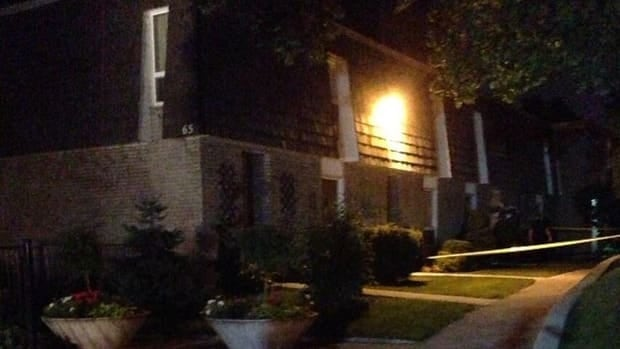 A townhouse complex in west Toronto was the scene of a triple homicide on Monday night.