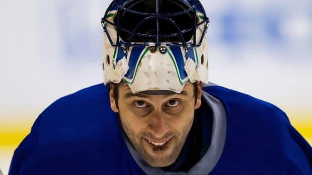 Roberto Luongo, seen at practice on Tuesday, will get the call in Game 1 of the playoffs for Vancouver for a sixth consecutive time.