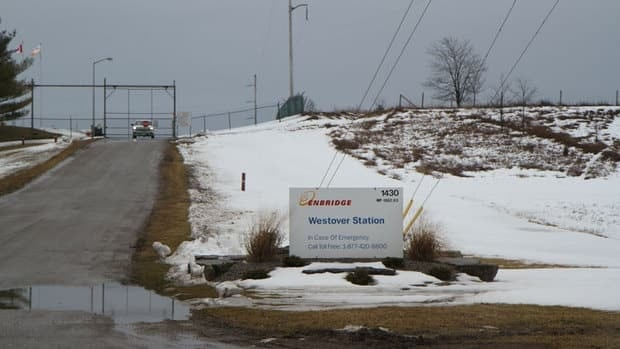 A shot of Enbridge's Westover pump station from Betty Ann Elgersma's driveway.