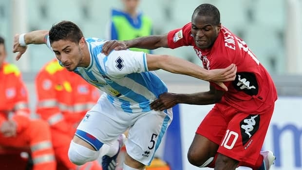 Innocent Emeghara scored the winner four minutes from time to prevent Pescara from picking up just its second point in 13 matches.