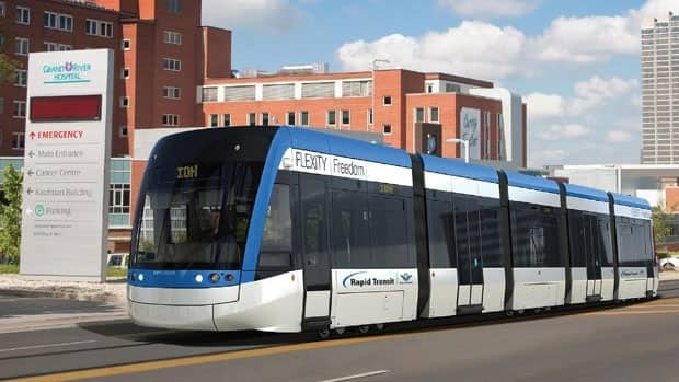 The new light rail vehicles (LRV's) will cost the region $92.4 million. (Region of Waterloo)
