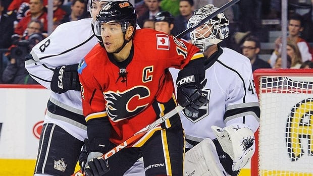Calgary captain Jarome Iginla battled hard against Los Angeles, but couldn't find the back of the net on nine shots.