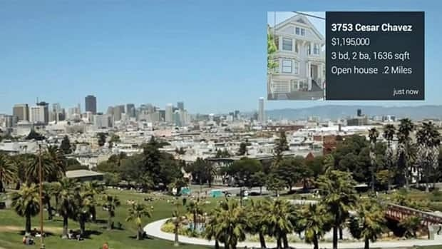 A tap of the finger on the side of a Google Glass that has the Trulia for Glass app will bring up information about properties near the user's current location, including whether there is an open house at the time.