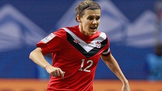 Christine Sinclair, seen in a game last year, will try and lead Canada to a perfect round robin record Monday in Cyprus.
