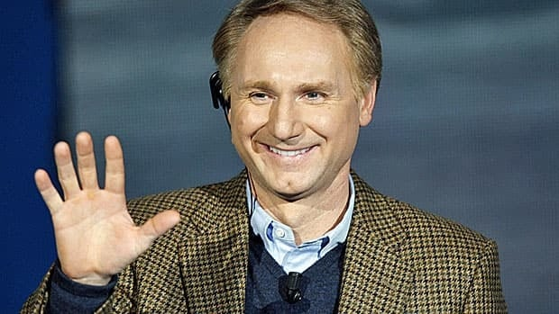 Author Dan Brown, master of religious intrigue, apparently likes his pi.
