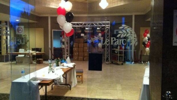 A look inside Le Parc banquet hall in Markham, Ont., where police broke up what they say was an illegal Super Bowl gambling party run by organized crime.