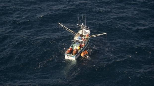 The Ocean Negotiator, shortly before it sank on Wednesday.