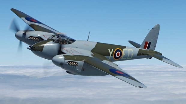 The British-designed Mosquito WWII fighter-bomber, nicknamed the Mossie, was also known as the wooden wonder because it was built largely of lumber by de Havilland in Downsview, Ont.