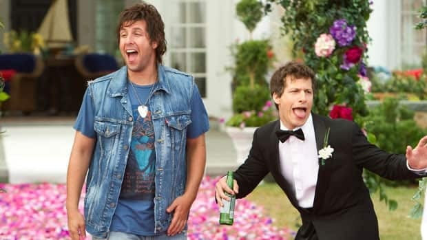 This film image provided by Columbia Pictures shows Adam Sandler, left, and Andy Samberg in a scene from That's My Boy.