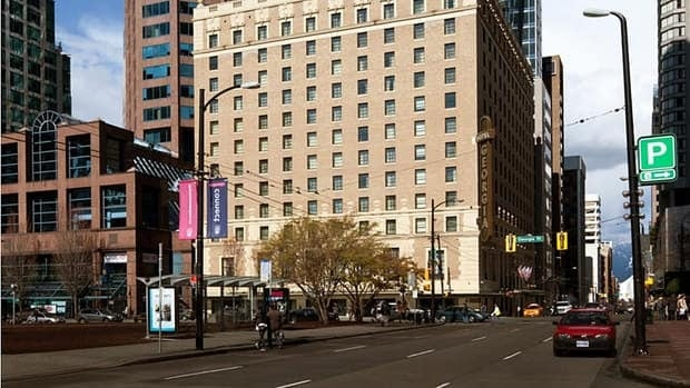 The landmark Hotel Georgia was built in 1927. In 2011 developers opened a 48-storey high-rise luxury residential tower adjacent to the original building as part of a redevelopment.