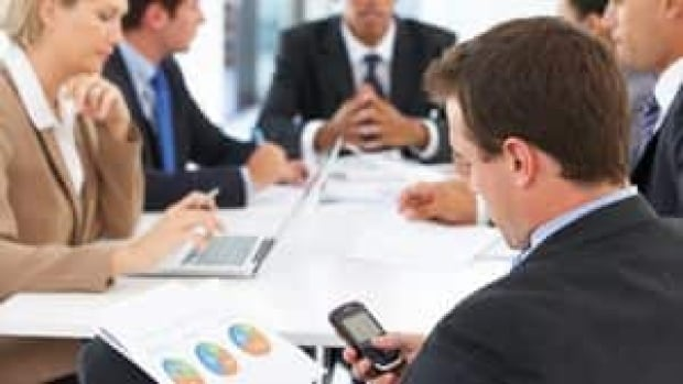 Checking one's phone during meetings is commonplace in many companies, but studies and etiquette experts suggest it's a bad habit that needs dropping.