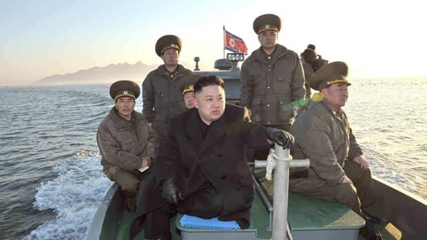 North Korean leader Kim Jong-un visited a defence detachment near the western sea border with South Korea, which is standing by its vows of aid and communication despite the North's recent threats.
