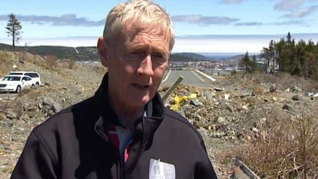 Dennis O'Keefe, the mayor of St. John's, stands in a section of land near Kenmount Terrace that the city has earmarked for a park.