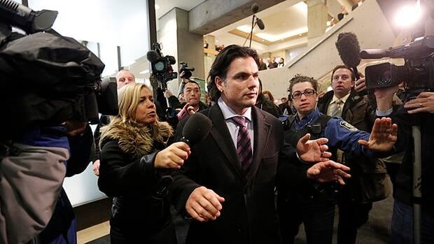 Senator Patrick Brazeau appeared in court in Gatineau, Que., on Feb. 8 on charges of assault and sexual assault. His next court appearance is scheduled for March 22.