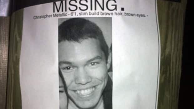 Christopher Metallic, 20, was last seen leaving a house party on Nov. 25