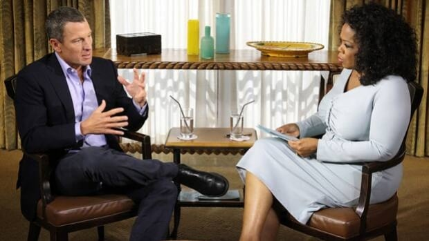 Lance Armstrong, left, talks to Oprah Winfrey in an interview to be aired Thursday and Friday.