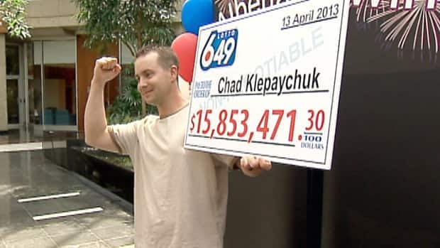 Chad Klepaychuk of Okotoks won a portion of the record $64.4 million Lotto 6/49 draw on April 13.